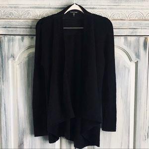 Eileen Fisher Italian Wool Drape Front Cardigan